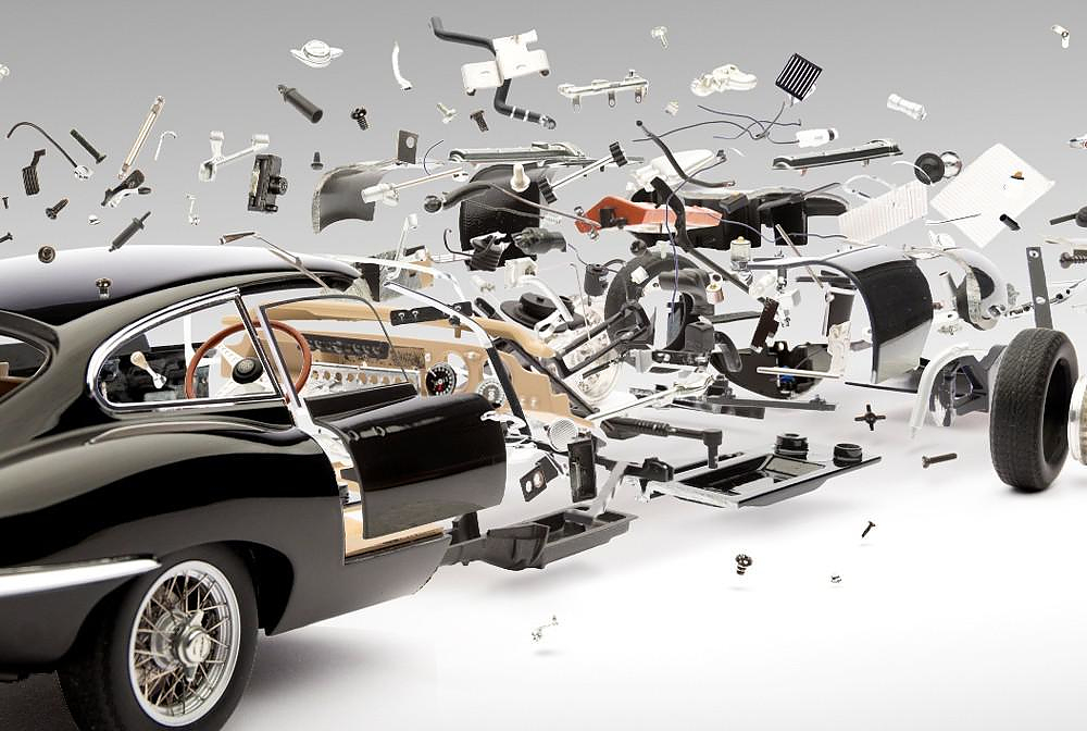 Amazing exploding photographs of classic sports cars by Fabian Oefner.
