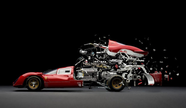Amazing exploding photographs of classic sports cars by Fabian Oefner