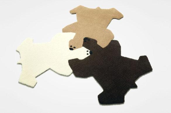 Permafrost Bear Hug puzzle Rug