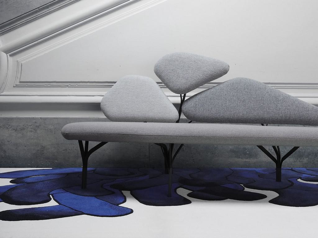 Borghese Sofa & Coffee Table by Noé Duchaufour Lawrance for La Chance.
