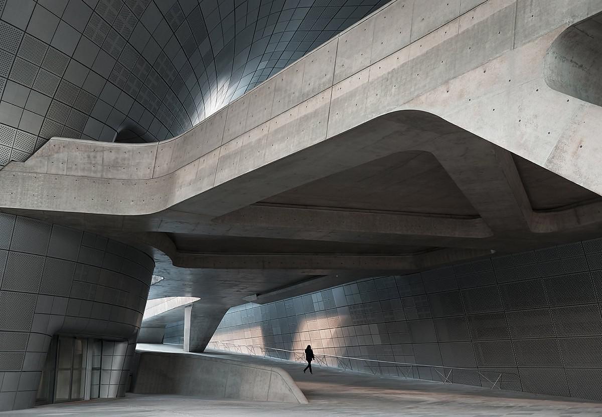 Dongdaemun Design Plaza by Zaha Hadid Architects.