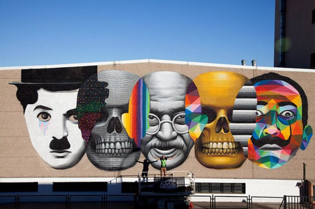 Mo Evolution Movember x Okuda Nave Palibex. Madrid. Spain