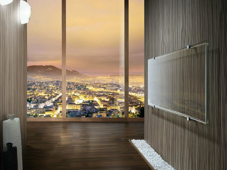 Διαφανές Γυάλινο Καλοριφέρ Thermoglance® από την Asola Vetro.