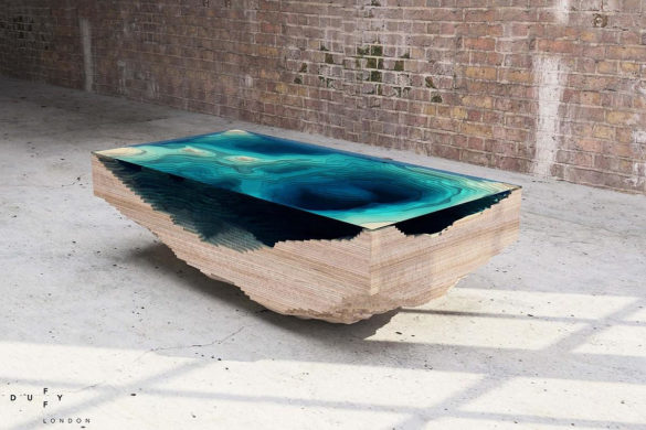 Abyss glass table Christopher Duffy