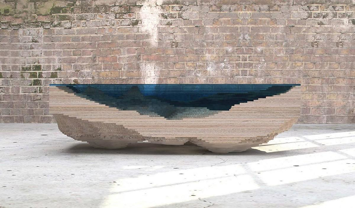 Handmade Abyss Table by Duffy London.