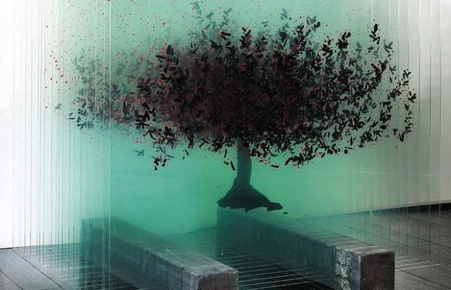 Ardan ozmenoglu 3d glass drawings tree (6)