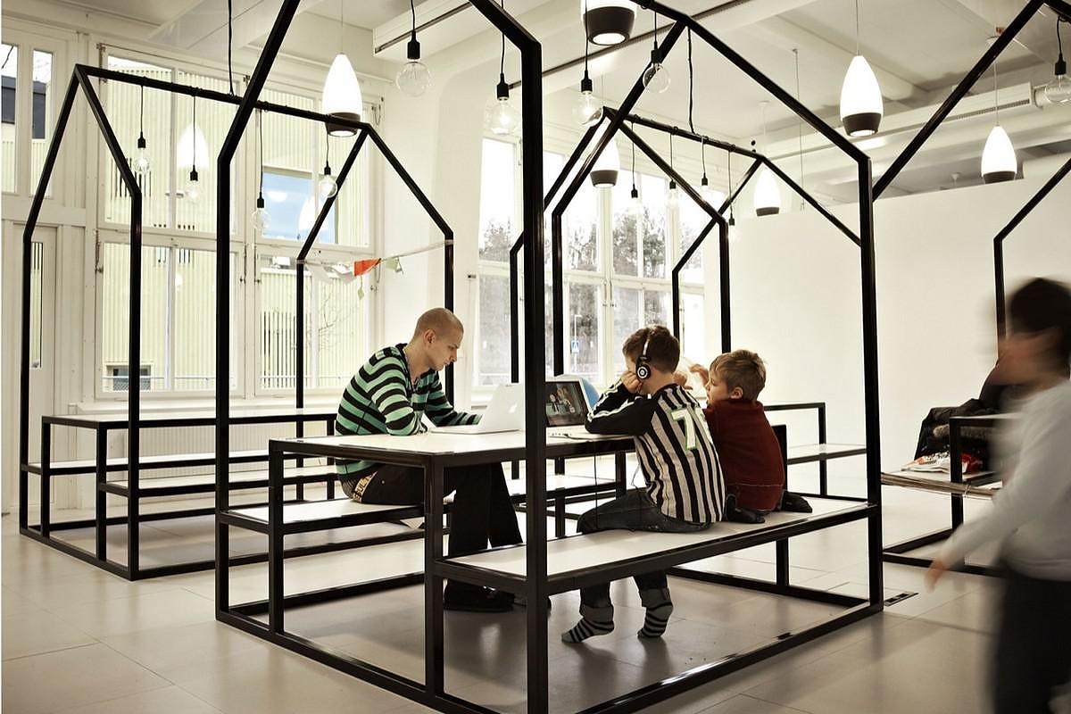 The No-Walls Vittra Telefonplan School by Rosan Bosch.