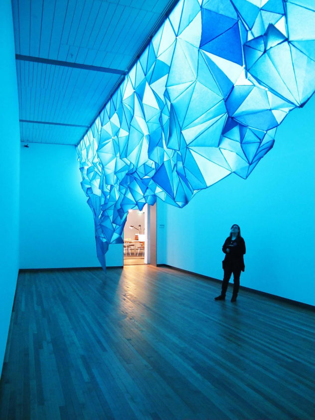 What Lies Beneath Iceberg form art paper installation Gabby Oconor (2)