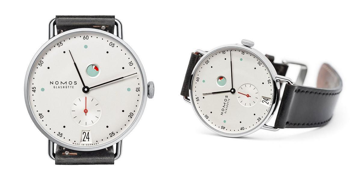 NOMOS Metro Datum Gangreserve Wristwatch