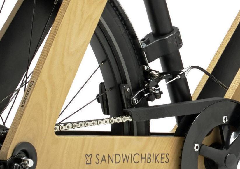 Ξύλινο ποδήλατο Sandwichbike από τον Basten Leijh.