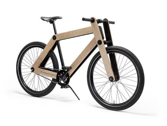 Sandwichbike Flat-Packed Wooden Bike by Basten Leijh