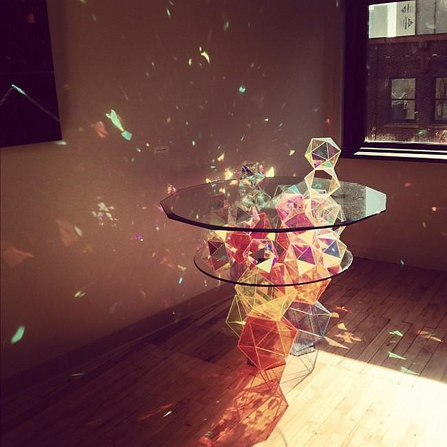 Sparkle Palace Cocktail Table by John Foster.