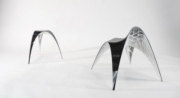 3D Printed Gaudi Chair and Stool by Bram Geenen