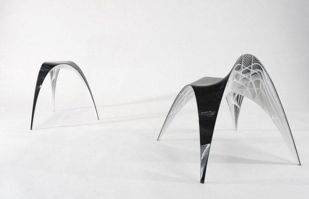 3D Printed Gaudi Chair and Stool by Bram Geenen