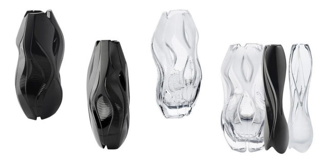 Lalique Crystal Architecture Vase Collection by Zaha Hadid