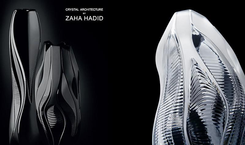 Κρυστάλλινα βάζα Lalique Crystal Architecture από την Zaha Hadid.