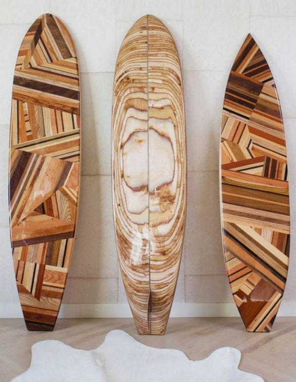 PACIFIC SURFBOARD Sculptures by Kelly Wearstler