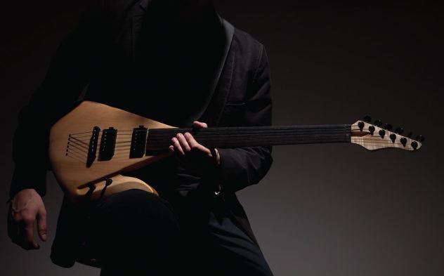 Lava Fretless Electric Guitar by Rapolas Grazys