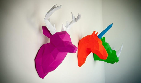 Papertrophy a collection of beautiful Papercraft Art for your home