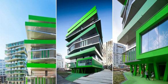 62 Council Flats by Hamonic Masson Architects