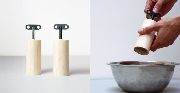 Salt & Pepper Box salt and pepper mill by Oscar Diaz