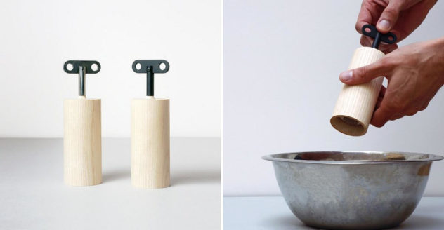 Salt & Pepper Box salt and pepper mill Oscar Diaz