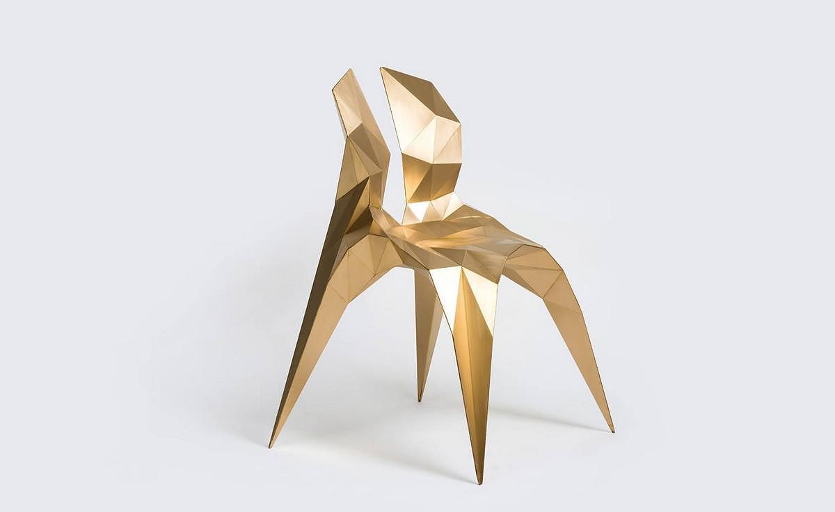 Split Chair Brass by Zhoujie Zhang 2014