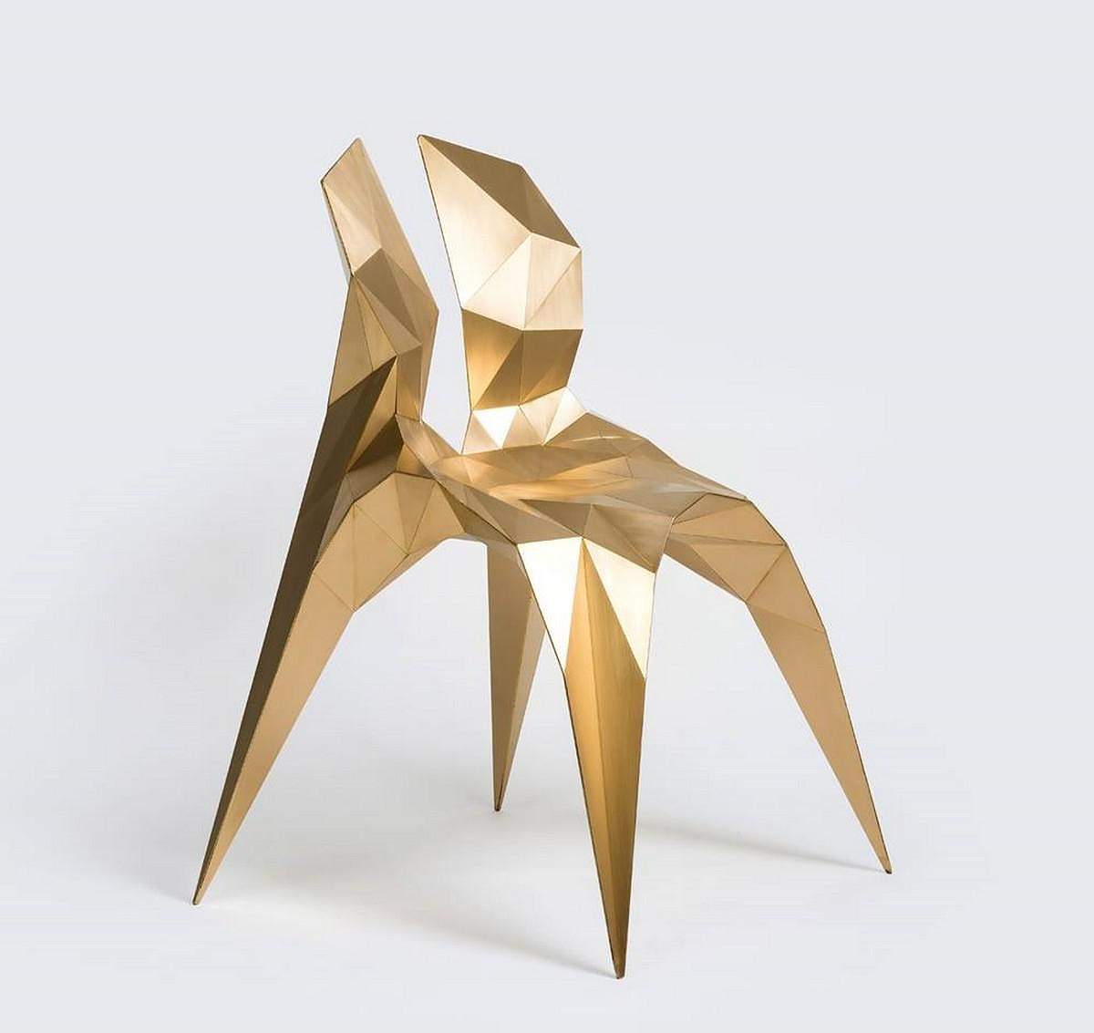 Split Chair Brass by Zhoujie Zhang.