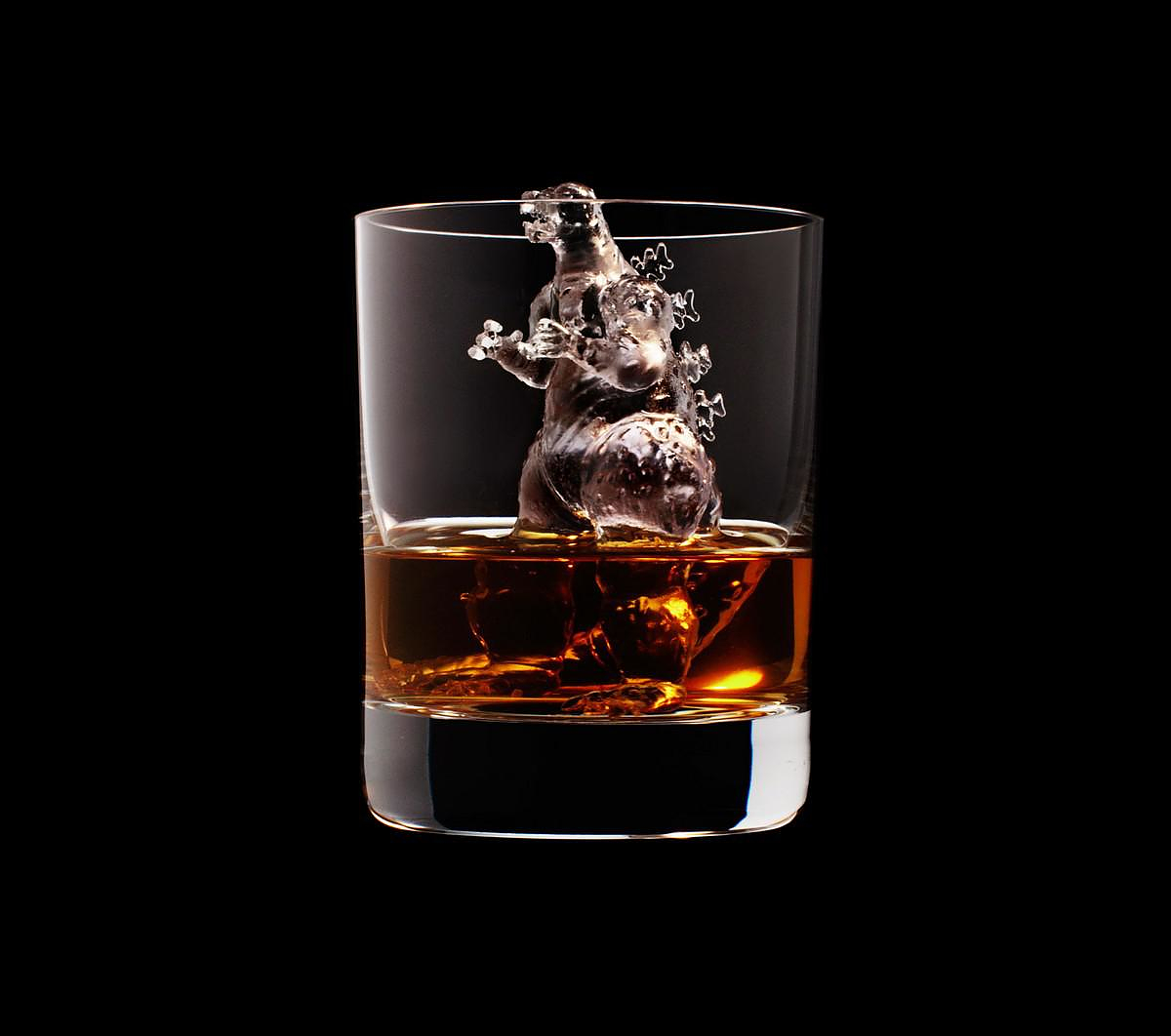 3D on the Rocks Ice Sculptures by Suntory Whisky.