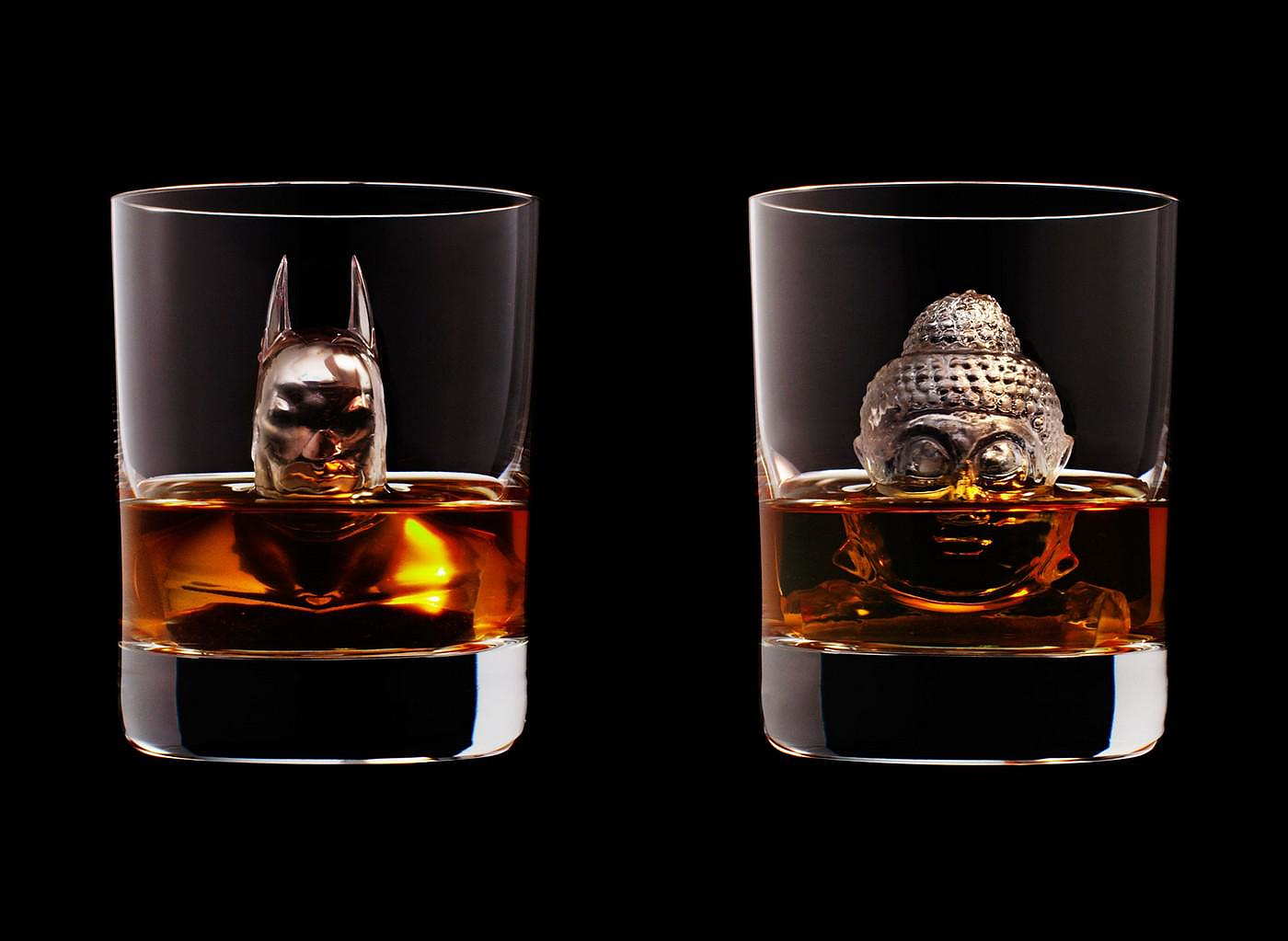 3d on the rocks ice sculptures by suntory whisky