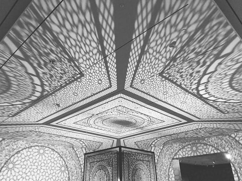 Shadow Play: Intersections Art Installation by Anila Quayyum Agha.