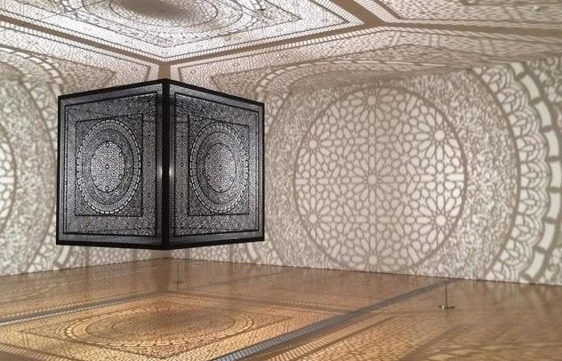 interpretations art installation by Anila Quayyum Agha