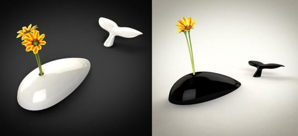 Moby Whale Shaped Vase by Alessandro Beda