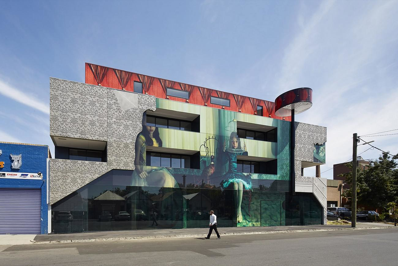Photographic Facade Skin at 2 Girls building in Melbourne.