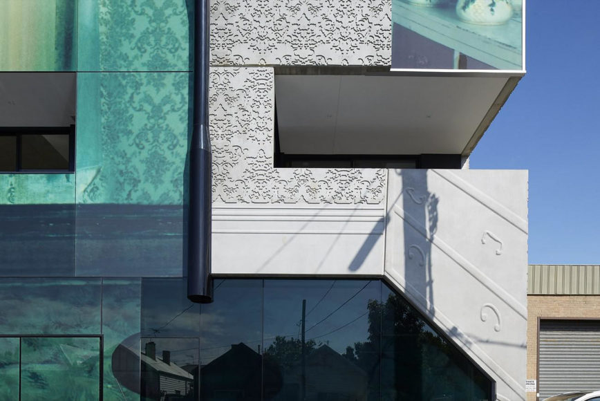 Φωτογραφική επικάλυψη κτιρίου στο 2 Girls building της Μελβούρνης.