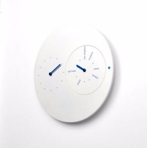 Αφαιρετικό ρολόι τοίχου Progetti Jetlag.