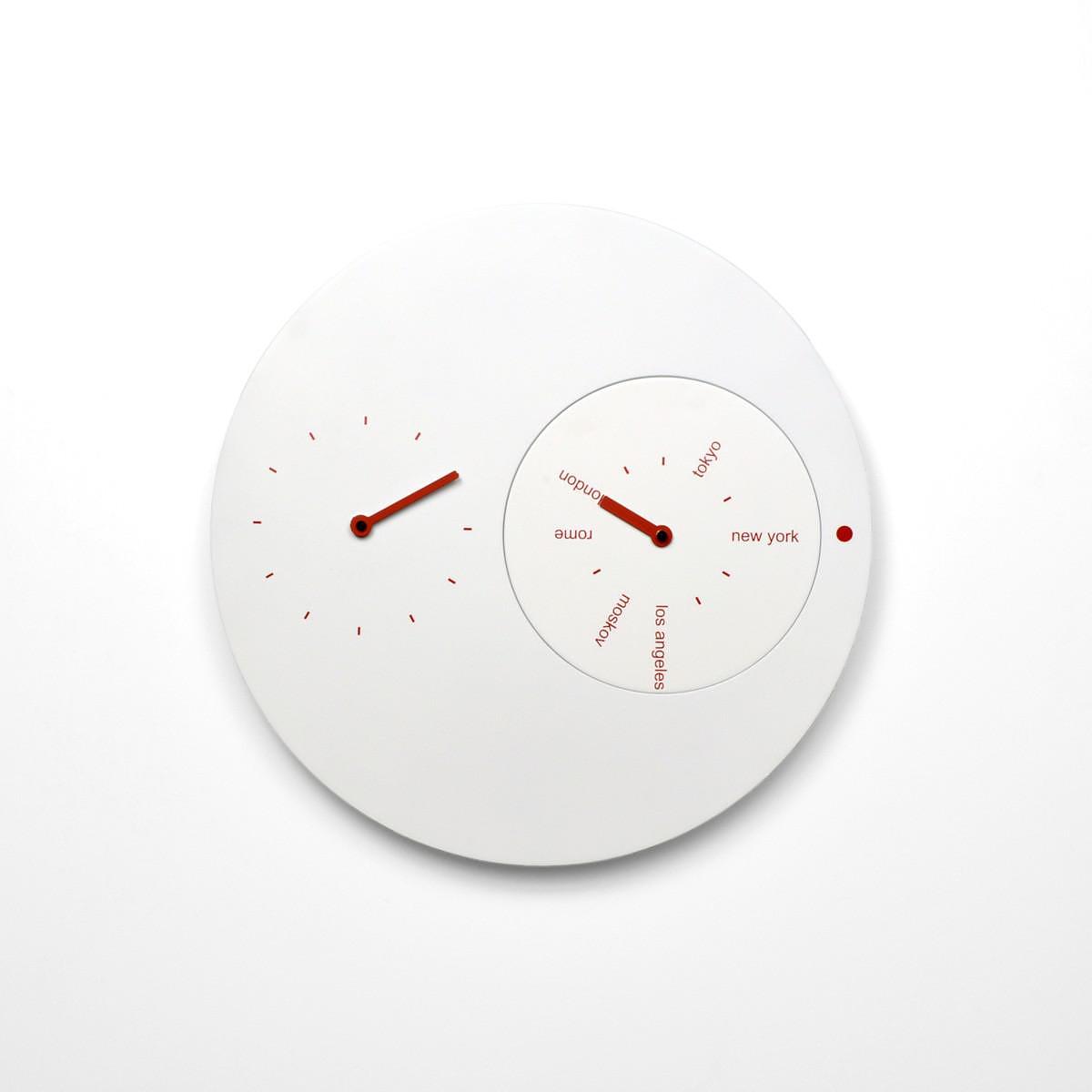 Progetti Jetlag Wall Clock by Riccardo Paollino & Matteo Fusi.