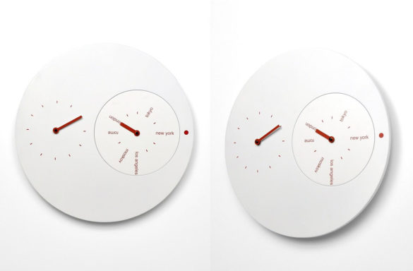 Progetti Jetlag Wall Clock Riccardo Paollino Matteo Fusi