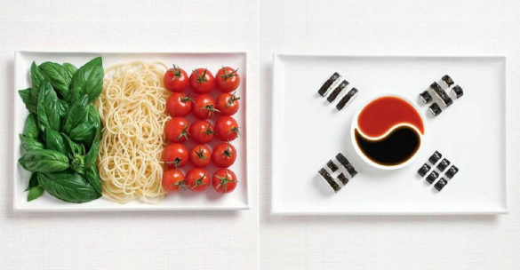 National Flags Made From Traditional Food