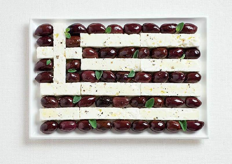 18 National Flags Made From each Country's Traditional Food.