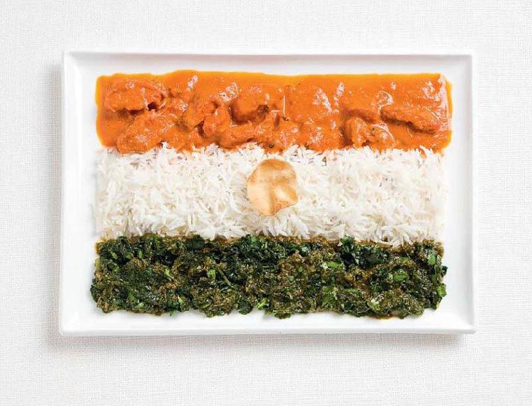 18 Σημαίες κρατών φτιαγμένες με τα παραδοσιακά φαγητά κάθε χώρας.