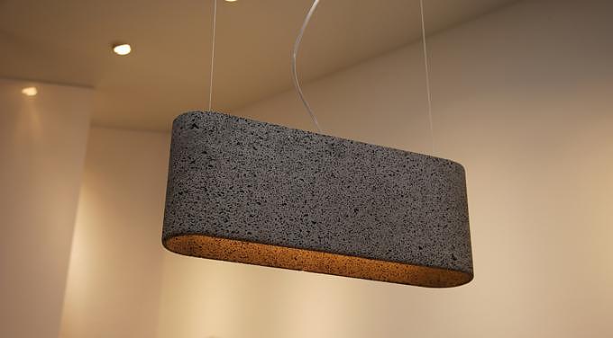 Aso San Basalt Lava Pendant Lamp.