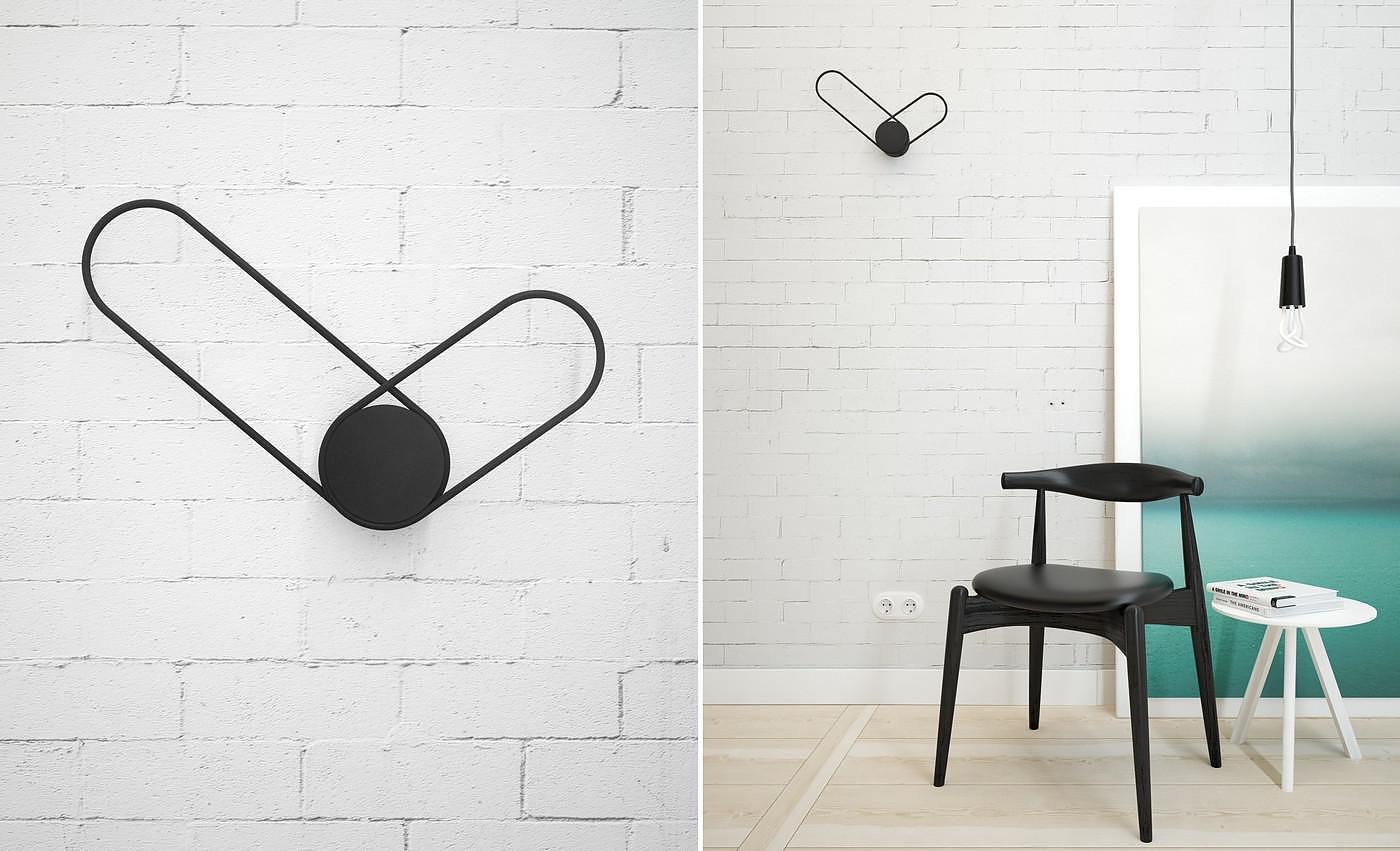 Klipp minimalist wall clock by line studio for Minimalist decor blog