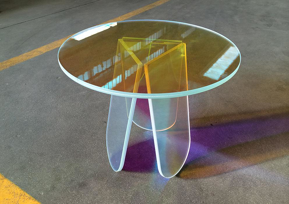 Shimmer Table Collection by Patricia Urquiola
