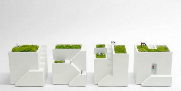 Ienami Bonkei Planters by Metaphys