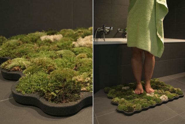 Living Moss Bath Mat by Nguyen La Chanh