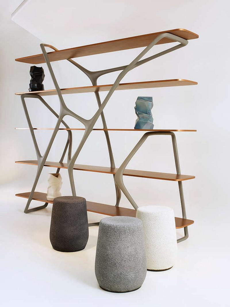 Naturoscopie I, Bookcase & Room-Divider by Noé Duchaufour-Lawrance.