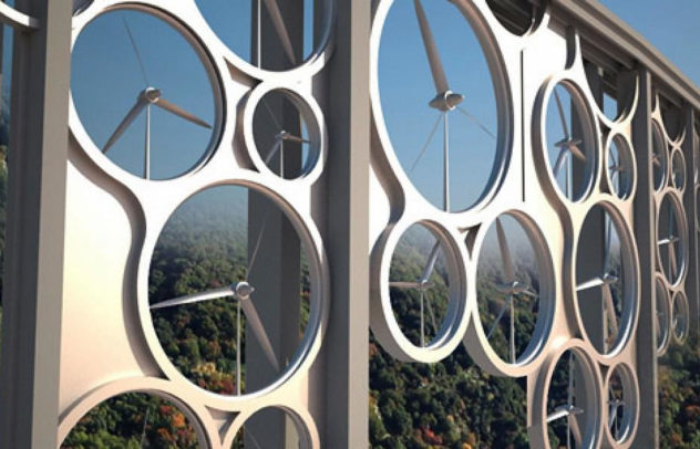 Solar Wind a Viaduct with built-in Wind Turbines.