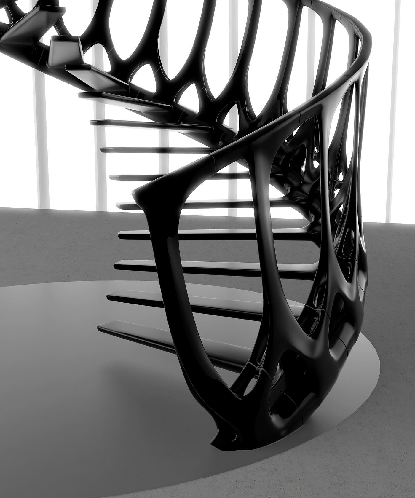 Vertebrae Staircase by Andrew McConnell.