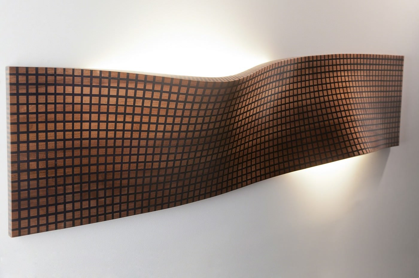 Grid Series Sculptural Wooden Lamps by Maarten De Ceulaer.